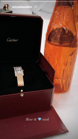 Erica buys wristwatch